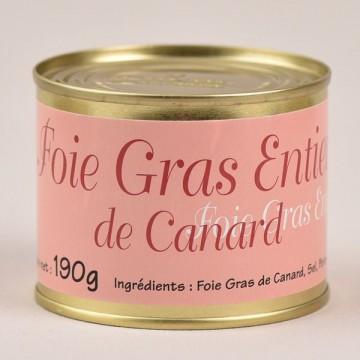 Foie gras de canard entier - 190g