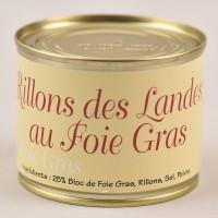Rillons des Landes - 25% bloc de foie gras - 190g